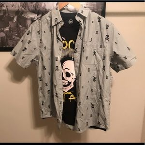NWT Wonder Nation Boys Skull Button Up and Tee